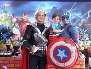 Thor, Lorenzo Cambraia e Capit�o Am�rica