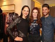 Romina Frota, Claudia Quental e Junior Lima