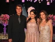 George Gomes,  Laura Gomes e Geislene Barcelar