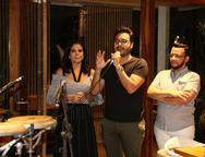 Maria L�cia Carapeba, Vin�cius Machado e Roberto Alves