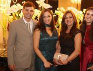 Gabriel Veras, Cristina Sampaio, Suzana Vilki e Greta Veras