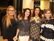 Estelinha Frota, Soraya Roque, Maria Luiza Viana e Denise Roque
