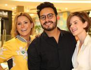 Monica Salgado, Vinicius Machado e Paulinha Sampaio