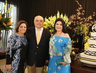 Lúcia Lustosa, José Benevides e Sellene Câmara