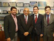 Helio, Eliomar de Lima, Roberto Victor e Marcelo Uchoa