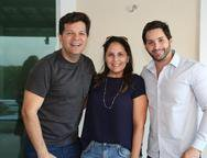 Gustavo Serpa, Anna Gladys Accioly e Felipe Dantas