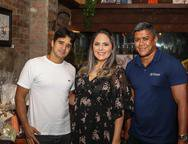 João Filho Tavares, Anna Gladys Accioly  e Geovane Jinkings