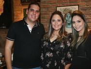 Lucas Cavalcante,  Anna Gladys Accioly e Ana Flavia Accyole