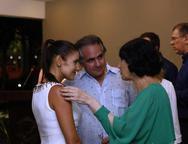 Manoela, Ricardo Bacelar e  Denise Mattar
