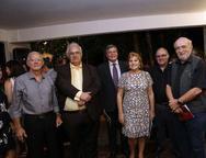 Manoel Roberto Caracas, Roberto Macedo, Mário Lima, Reinhilde  Lima, Hans e Prof  Euler