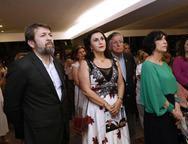 Elcio Batista,  Marlene e Denise Mattar