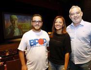 Lucas Dorini, Michelle Ribeiro e Edson Maranhão