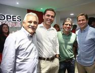 Emanuel Capistrano, Carlos Fiuza, Adalberto Machado e Fábio Albuquerque