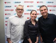 Edson Barbosa, Agueda Muniz e Ricardo Bezerra