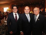 Andrei Aguiar, Roberto Cláudio e Ubiratan Aguiar