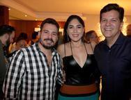Miguel Dias Filho, Isabella Fiuza e Gustavo Serpa