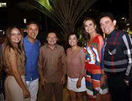 Ana Virgínia Furlani, Fernando Novaes, Ricardo Teixeira, Poliana Novaes, Fátima Santana e Fernando Santana