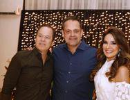 Lisandro Fujita, André Alencar e Eveline Fujita