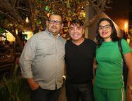 Wagner, Joaquim Salmito e Flavia Oliveira