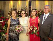 Arizinha Mota, Monique Alencar, Ariane Firmeza e Francisco Mota