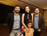 Cristiano Saboia, Manoela Bonfim, Diego e Yasmim Bonfim