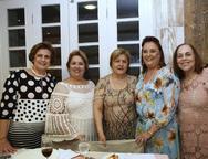 Régina Aragão, Maria Wanda, Lucila Norões, Débora Campos e Mazé Coelho