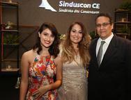 Ana Clara, Juliana e Marcelo Rêgo