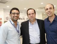 Alberto Cunha, Manuel Fontenelle e Manuel Arcanjo