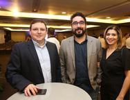 Cristian Lopes, Jorge Almeida e Elaine Tahim