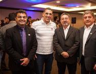 Michel Araújo, Alberto Perdigão, Claudio Ricardo e Sampaio Filho
