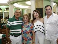 Evanio Guedes , Iranilda, Fatima Gon‡alves e Jardson Cruz