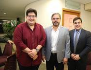 Yuri Torquato, Edson Queiroz Neto e Thiago Pinho