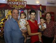 Chiquinho Aragão, Katarina Aragão, Flávia, Henrique e Cristina Aragão