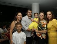 Ligia, Davi, José Afonso, Julia Fabiano e Fernanda Laprovitera