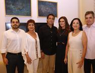 Fernando, Lilia, Alexandre, Ivana Elusa e Totonho