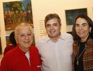 Geraldo Sergio,  Totonho Laprovitera e Jaqueline  Jereissati