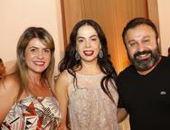 Rejane Arruda, Roberta Fontelles e Eduardo Fontelles