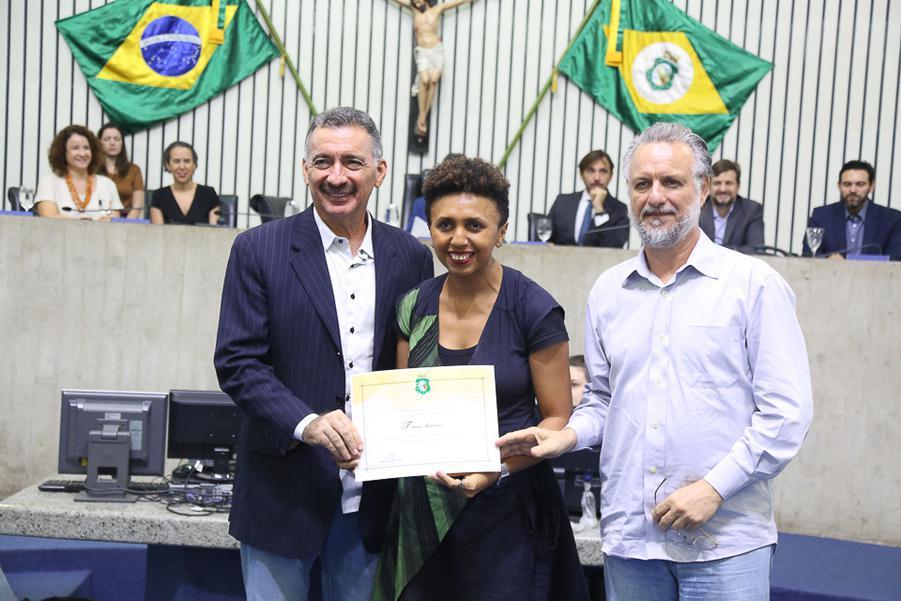 Artur Bruno, Tereza Monteiro e Plinho Bortolotti