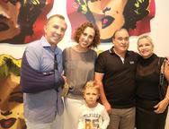 Philipe, Elem e Lucas Godefroit, Tales e Daniela Ximenes
