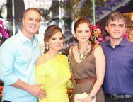 Fabr�cio e Viviane Martins, Anair Castro e Daniel Moura