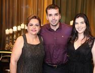 Cláudia, Leonardo e Juliana Rolim