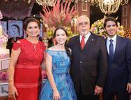 Marilena Campos, Júlia Magalhães, Eduardo e Orlando Campos