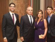 Daniel, Daniel, Antonieta e Felipe Colares