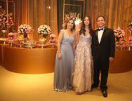 Gina, Lyna e Andre Machado