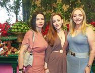 Claudia, Mariah e Sandra Fujita