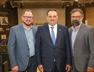 Marcus Soares, Patriolino Dias e Joc�lio Leal