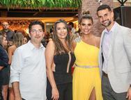 Beto Bastos, Luciana Monteiro, Anelisa e Dimas Barreira